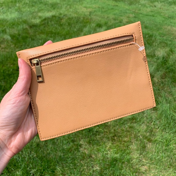 Anthropologie Zipped Leather Pouch